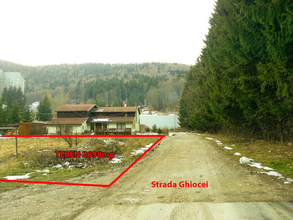 Teren  Sinaia liziera nord Str. Ghiocei